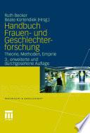 Handbuch Frauen  und Geschlechterforschung