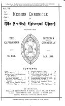 Foreign Mission Chronicle of the Episcopal Church in Scotland  Together with the Kaffrarian Diocesan Quarterly