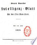Königlich Bayerisches Intelligenz-Blatt für den Ober-Main-Kreis
