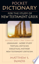 Pocket Dictionary for the Study of New Testament Greek