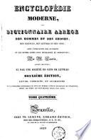 Encyclopédie moderne, ou Dictionnaire abrégé des hommmes et des choses, des sciences, des lettres et des arts