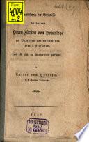 Darstellung der Ereignisse bey den vom Herrn Fürsten von Hohenlohe zu Bamberg unternommenen Heilversuchen, wie sie sich in Wahrheit zugetragen