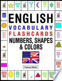 English Vocabulary Flashcards   Numbers  Shapes   Colors