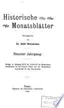 Historische Monatsbl  tter
