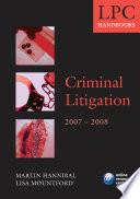 Criminal Litigation Handbook