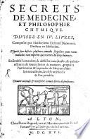 Secrets de med. et philos. chym