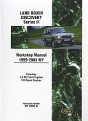 Land Rover Discovery Series Ii Workshop Manual 1999 2003 My