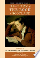 Edinburgh History of the Book in Scotland  Volume 2  Enlightenment and Expansion 1707 1800