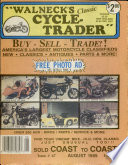 WALNECK'S CLASSIC CYCLE TRADER, AUGUST 1989