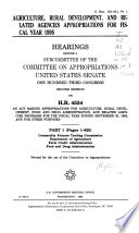 Agriculture Rural Development And Related Agencies Appropriations For Fiscal Year 1995 Commodity Futures Trading Commission
