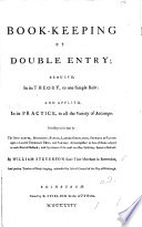 Book-keeping by double entry reduced in its theory to one simple rule, etc