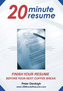 20 Minute Resume  Finish Your Resume Before Your Next Coffee Break