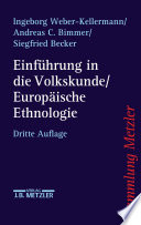 Einführung in die Volkskunde / Europäische Ethnologie