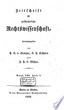 Zeitschrift f  r geschichtliche Rechtswissenschaft
