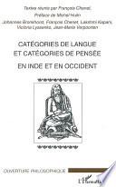 Catégories de langue et catégories de pensée en Inde et en Occident