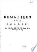 Remarques sur Longin   Fragment d une pr  face de Longin sur le livre d Hephestion