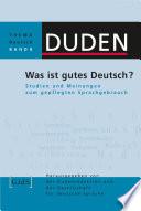 Was ist gutes Deutsch
