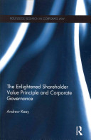 The Enlightened Shareholder Value Principle and Corporate Governance