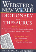 Webster s New World Dictionary and Thesaurus