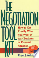 The Negotiation Toolkit