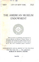 Annual Report American Museum Of Natural History
