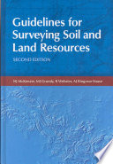Guidelines for Surveying Soil and Land Resources