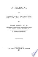 A Manual of Osteopathic Gynecology