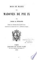Mois de Marie des Madones de Pie IX