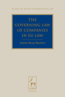 The Governing Law of Companies in EU Law