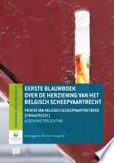 Proeve van Belgisch Scheepvaartwetboek (privaatrecht)
