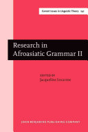 Research in Afroasiatic Grammar Two