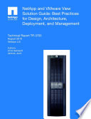 NetApp and VMware View Solution Guide
