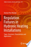 Regulation Fixtures In Hydronic Heating Installations