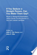If You Seduce a Straight Person  Can You Make Them Gay