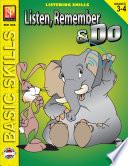 Listen Remember Do Grades 3 4  book