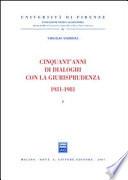 Cinquant anni di dialoghi con la giurisprudenza 1931 1981