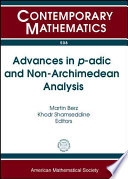 Advances In P Adic And Non Archimedean Analysis book