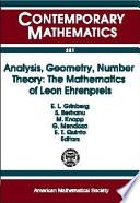 Analysis  Geometry  Number Theory