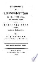 Beschreibung der v. Rochowschen Lehrart in Volksschulen