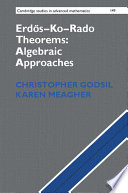 Erdos Ko Rado Theorems  Algebraic Approaches