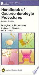 Handbook of Gastroenterologic Procedures