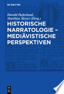 Historische Narratologie, mediävistische Perspektiven