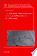 La Construcci  n Po  tica de lo Sagrado en  Alturas de Macchu Picchu  de Pablo Neruda