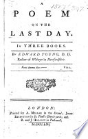 A Poem on the Last Day  etc Book PDF