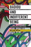 Badiou and Indifferent Being