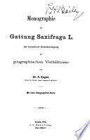 Monographie der Gattung Saxifraga L.