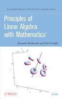 download ebook principles of linear algebra with mathematica pdf epub