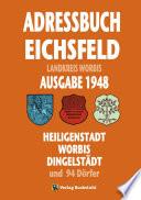 Einwohnerbuch | Adressbuch KREIS WORBIS mit Heiligenstadt, Worbis und Dingelstädt im EICHSFELD 1948