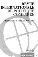 Revue internationale de politique comparée 2003/1