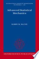 Advanced Statistical Mechanics